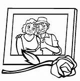 Coloring Sweet Gran Parents Memory Netart sketch template