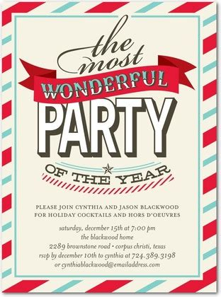 modern christmas holiday party invitations for 2013