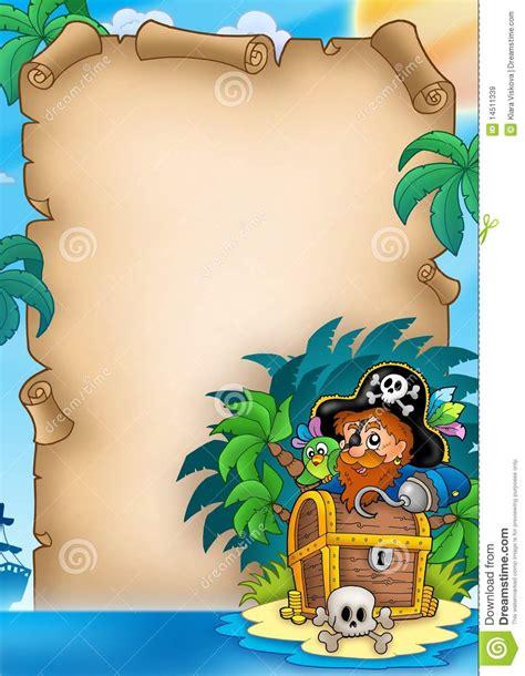 pergamena  il pirata sullisola illustrazione  stock