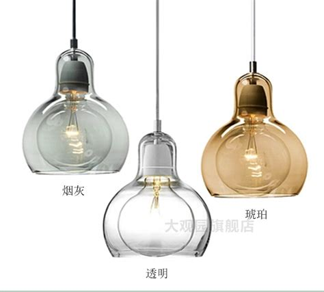 glass kitchen pendant lights nordic brief personalized big bulb glass pendant lights 3797