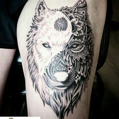 wolf tattoo  howl   moon top    time