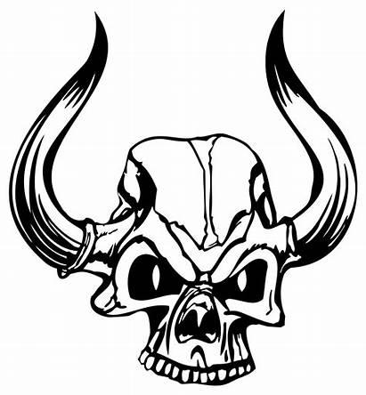 Skull Evil Devil Demon Clip Line Clipart