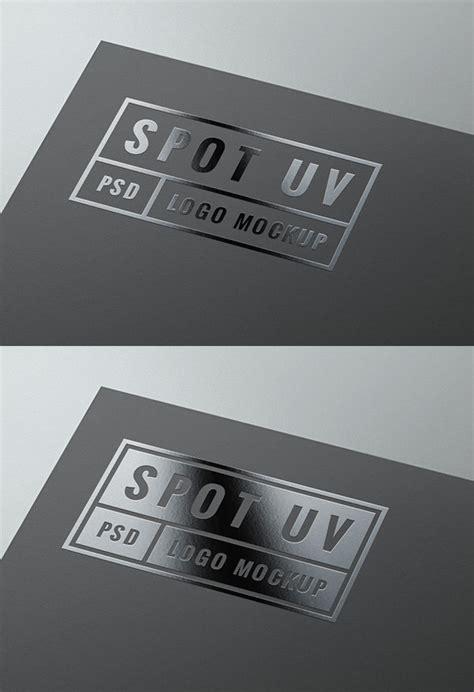 spot uv logo mockup graphicburger
