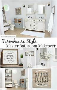 Farmhouse Style Bathroom Makeover - Love of Family & Home