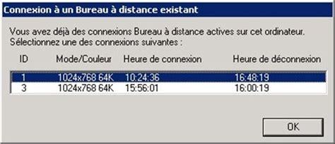 problème connexion bureau à distance connexion bureau à distance