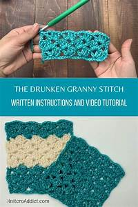 Drunken Granny Stitch   Step By Step Video Tutorial And