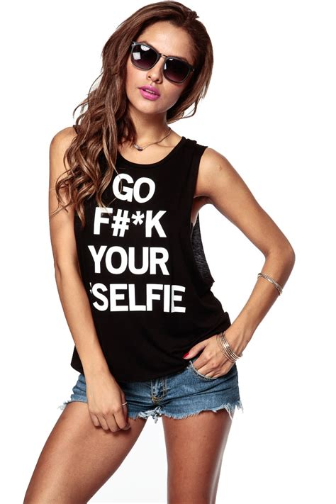 d k peplum tank top black go f k your selfie tank cicihot top shirt clothing