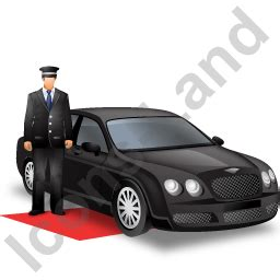 Luxury Car Driver Black Icon, Pngico Icons, 256x256