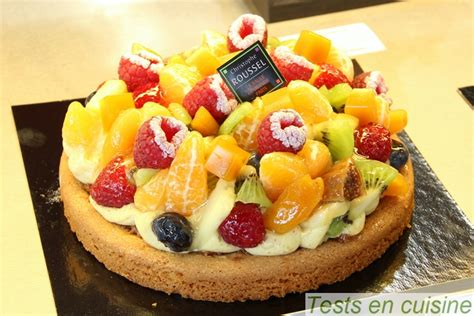 tarte biscuitee aux fruits
