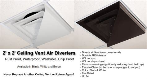 Drop Ceiling Air Vent Deflector by Moisture Resistant Ceiling Tiles