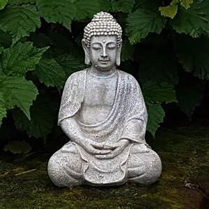 Statue Bouddha Interieur : statue bouddha pour interieur ou exterieur achat vente statue statuette cdiscount ~ Teatrodelosmanantiales.com Idées de Décoration