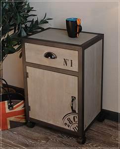 Kommode Auf Rollen : kommode m schrift grau nachttisch auf rollen holz metall im used look neu ebay ~ Watch28wear.com Haus und Dekorationen