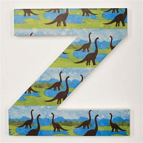 blue green dinosaur letters  wooden letters company