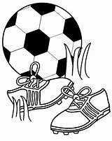 Coloring Pages Football Ball Shoes Soccer Cleats sketch template