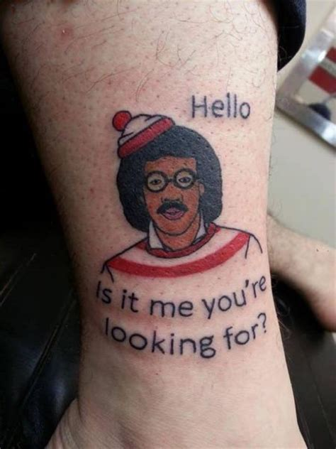 tattoo artist  combined lionel richie  waldo