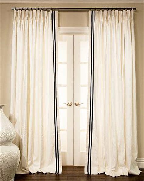ribbon trimmed estate linen custom drapery sale in progress drapestyle 800 760 8257