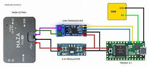 Dji Naza  Phantom  A2 Can Bus Communication Protocol - Nazacandecoder Arduino Library