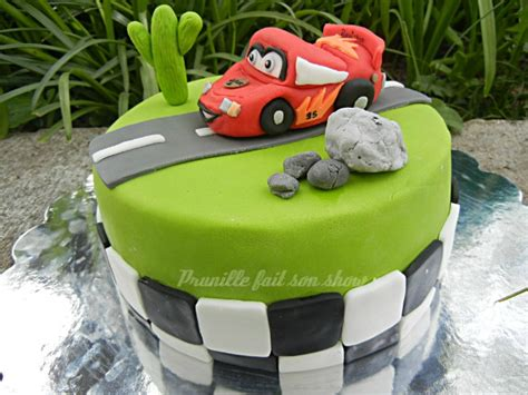 gateau cars flash mac rust eze p 226 te 224 sucre prunille fait show