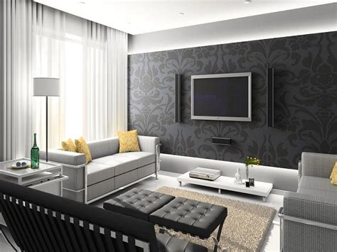Schwarze Tapete Wohnzimmer by Wallpaper For Modern Living Room
