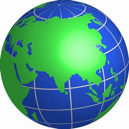 Clipart Earth Transparent Globe Asia Clipground