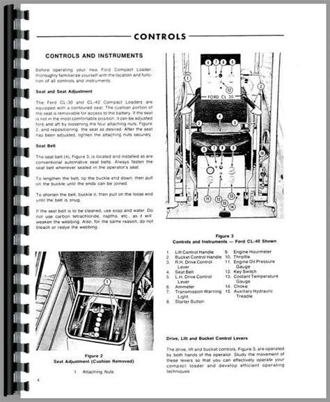 ford cl skid steer operators manual