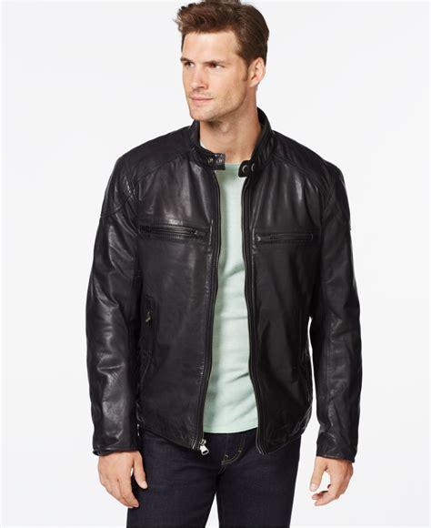 jacket moto lyst marc new york mac moto leather jacket in black for men