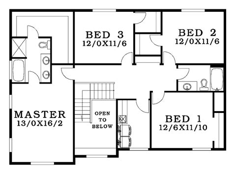 bedroom bungalow house plans  bedroom detached house