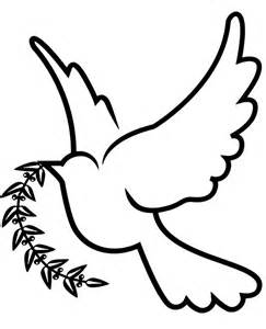 dove  peace printable relaxing coloring picture