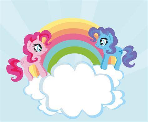 Cute Unicorns And Rainbow