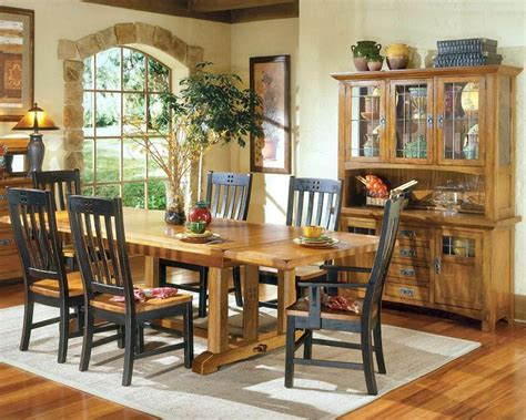 Rustic Dining Set by Intercon Solid Oak Dining Set Rustic Mission Inrm44108set