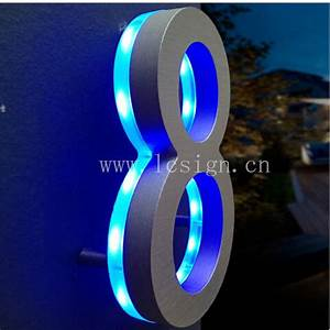 3d led advertising light box letter backlit mirror With 3d illuminated letters