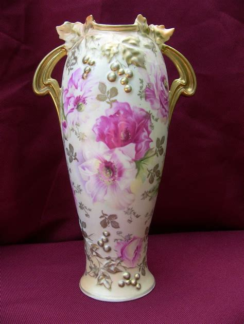 Rs Prussia Vase by Rs Prussia Grape Mold Vase Rs Prussia Porcelain