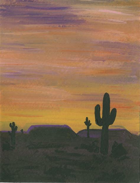 sunset desert painting fun family crafts