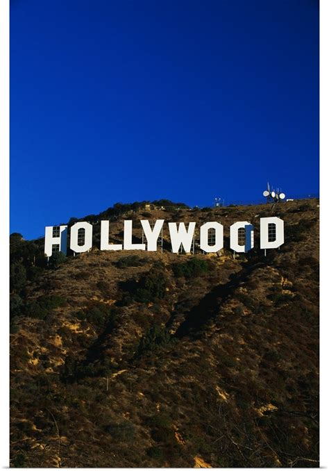poster print wall art entitled hollywood sign los angeles