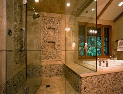 rock tile shower 30 stunning bathroom ideas and pictures