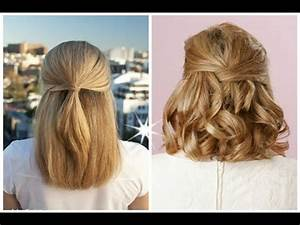 Best Half up Half down Hairstyles for Long Short Curly hair YouTube