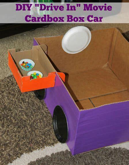 box crafts ideas diy cardboard box car for a drive in diy 1165