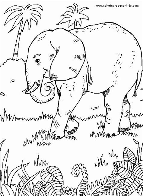 Safari Animals Coloring Pages in 2020 | Coloring pages