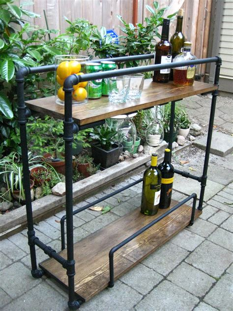 life designed diy pipe bar cart