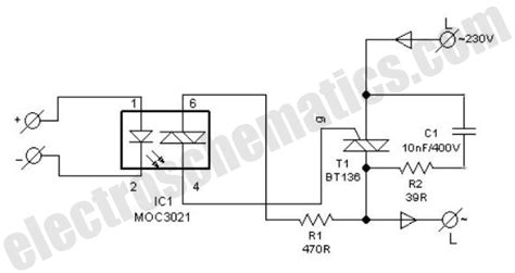 dasar rangkain solid state relay ssr schematic