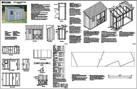 slant roof shed plans free 4 x10 slant lean to style shed plans see sles ebay