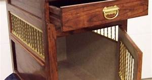 table crate with drawer to keep dog stuff togetherdog With dog crate end table with drawer