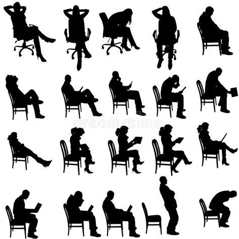 Silhouette Persone Sedute Vector Silhouette Of Stock Vector Illustration