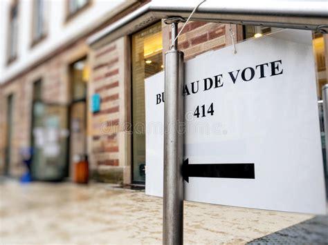 bureau de vote strasbourg sign to bureau de vote stock image image