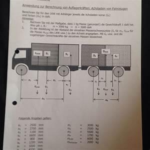Abstand Berechnen Auto : auflagerkr fte achslast am lkw physik ~ Themetempest.com Abrechnung