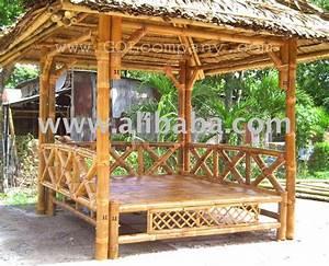 Pergola En Bambou : maison en bambou sur des chasses barre et gazebo en ~ Premium-room.com Idées de Décoration