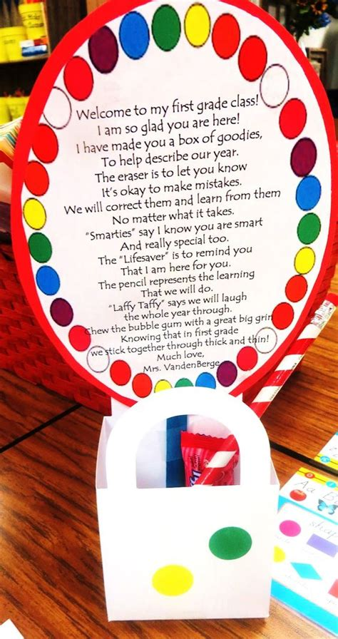 list of gifts to school children back to school card gift for great idea for the meet and greet at the beginning of the