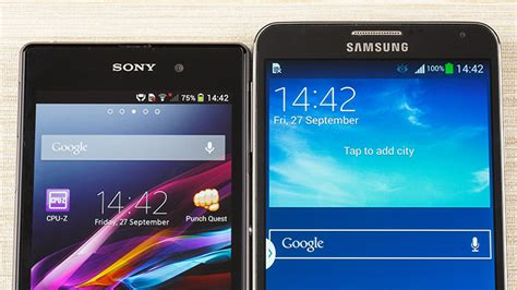samsung galaxy note 3 vs sony xperia z1 phonearena