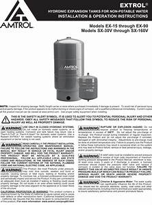 551506 2 Amtrol Extrol Sx 40v Expansion Tank Installation