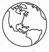 Earth Clipart Planet Outline Vector Drawing Coloring Printable Line Icona Terra Globe Cartoon Stile Contorno Pianeta Simple Map Icon Entwurfsart sketch template